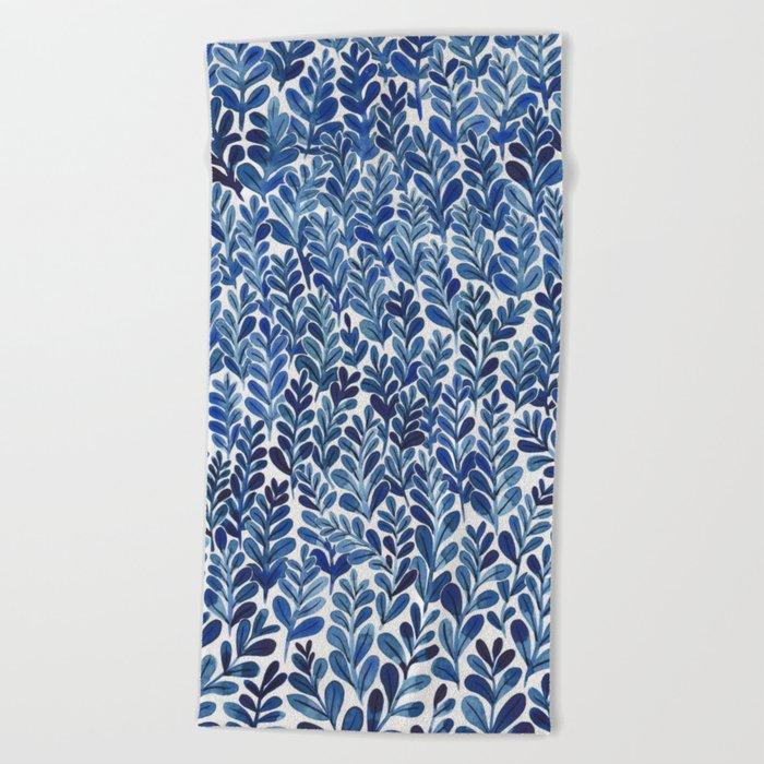 Indigo blues Beach Towel