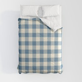 gingham_blue and cream Comforters