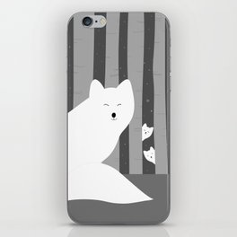 White foxes iPhone Skin