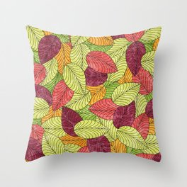 Let the Leaves Fall #11 Throw Pillow