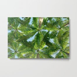 Summer Under the Palm Leaves Metal Print
