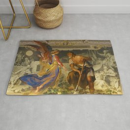 With the grace of God and the effort of will we obtain the excellence of virtue Rug