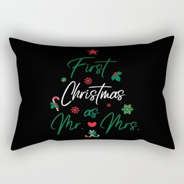 First Christmas As Mr. & Mrs. Rectangular Pillow