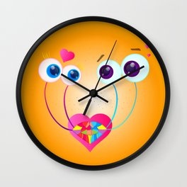 Garden Snail Love Wall Clock