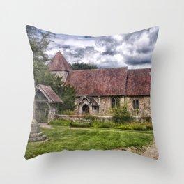 East Chiltington Church Throw Pillow