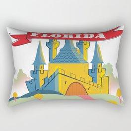 Florida Magical old castle. Rectangular Pillow