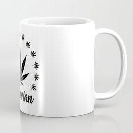 Vegetarian | Weed Cannabis Art Work Gift Coffee Mug