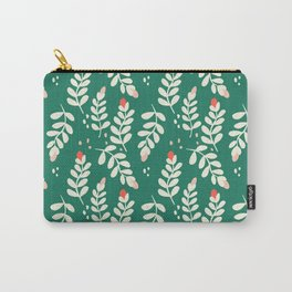 September Vines and Berries in Dark Green Carry-All Pouch
