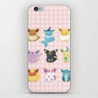 eevee iPhone & iPod Skins featuring Eevee Evolutions by Nozubozu