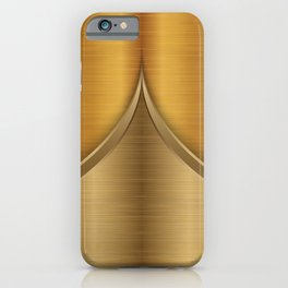 Brushed Gold iPhone Case
