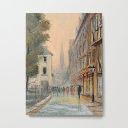 Rainy Day In Oxford England Metal Print