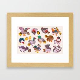 Duck and Duckling Framed Art Print