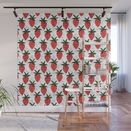 the strawberrys Wall Mural