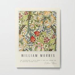 Modern poster-William Morris-Vegetable print 4. Metal Print