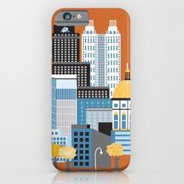 Atlanta, Georgia - Skyline Illustration by Loose Petals iPhone Case
