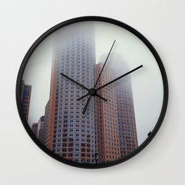 foggy street in US Wall Clock