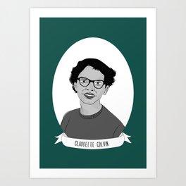Claudette Colvin Illustrated Portrait Art Print