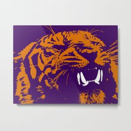 Clemson Tiger Metal Print