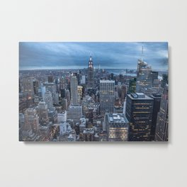 Shadow and light canyon - New york Metal Print
