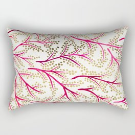 Pink & Gold Branches Rectangular Pillow