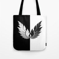 angel Tote Bags featuring Angel by haroulita