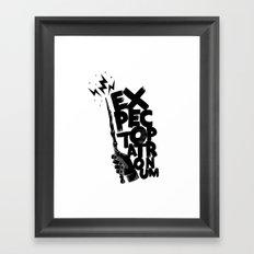 wand hand Framed Art Print