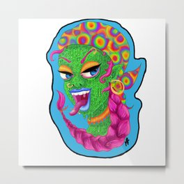 the green girl Metal Print