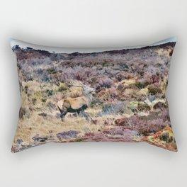 Stag in Scotland Rectangular Pillow