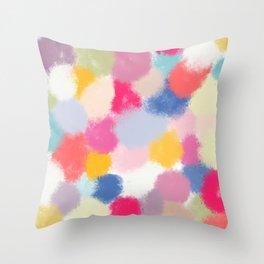 Splotches - by Kara Peters Throw Pillow