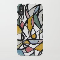kandinsky iPhone & iPod Cases featuring Geometric Abstract Watercolor Ink by Ashley Grebe