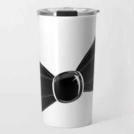 Black Satin Bow Travel Mug