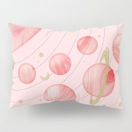 The Pink Solar System Pillow Sham