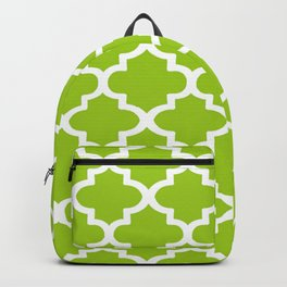 Arabesque Architecture Pattern In Lime Backpack