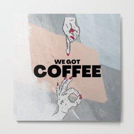 Cafe wall decoration Metal Print
