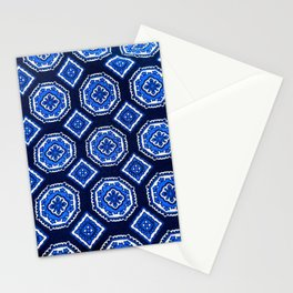 Patterned Up in Blue Stationery Cards