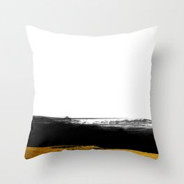 Black and Gold grunge stripes on clear white background - Stripe - Striped Throw Pillow