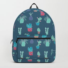 Plants in pots, interior pattern, stand out Backpack