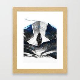 Astronaut Isolation Framed Art Print