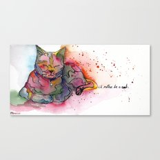 I'd rather be a cat Canvas Print