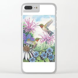 Hummingbird and Bergamot Clear iPhone Case
