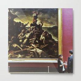 Conversing art Metal Print