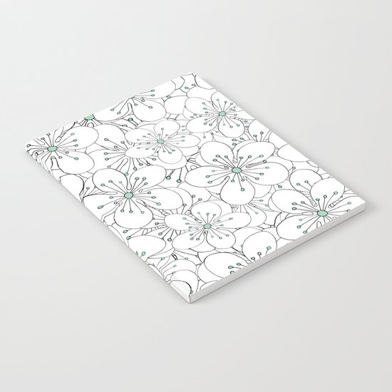 Cherry Blossom Mint Notebook