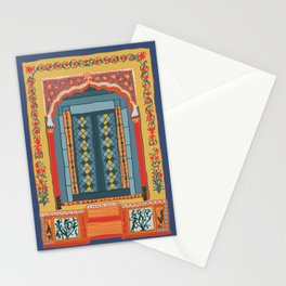moroccan door in navy Stationery Cards