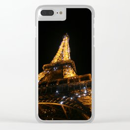 Eiffel at Night Clear iPhone Case
