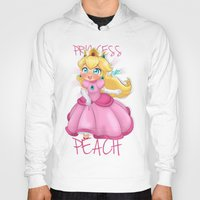 princess peach Hoodies featuring Princess Peach by Chimi-uzz