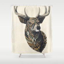 White-Tailed Deer (Color Version) Shower Curtain