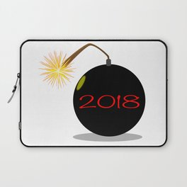 Cartoon 2018 New Year Bomb Laptop Sleeve
