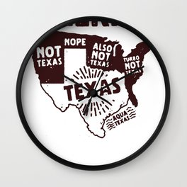 UNITED STATES OF TEXAS T-SHIRT Wall Clock