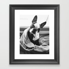 Good morning, human. Framed Art Print