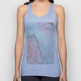 geode Crystal pink blue Unisex Tank Top